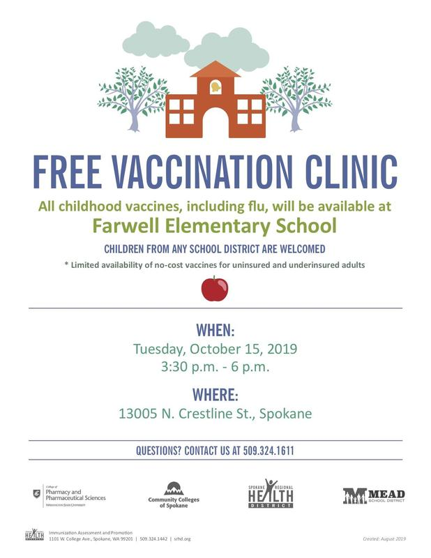 Free vaccination clinic flyer