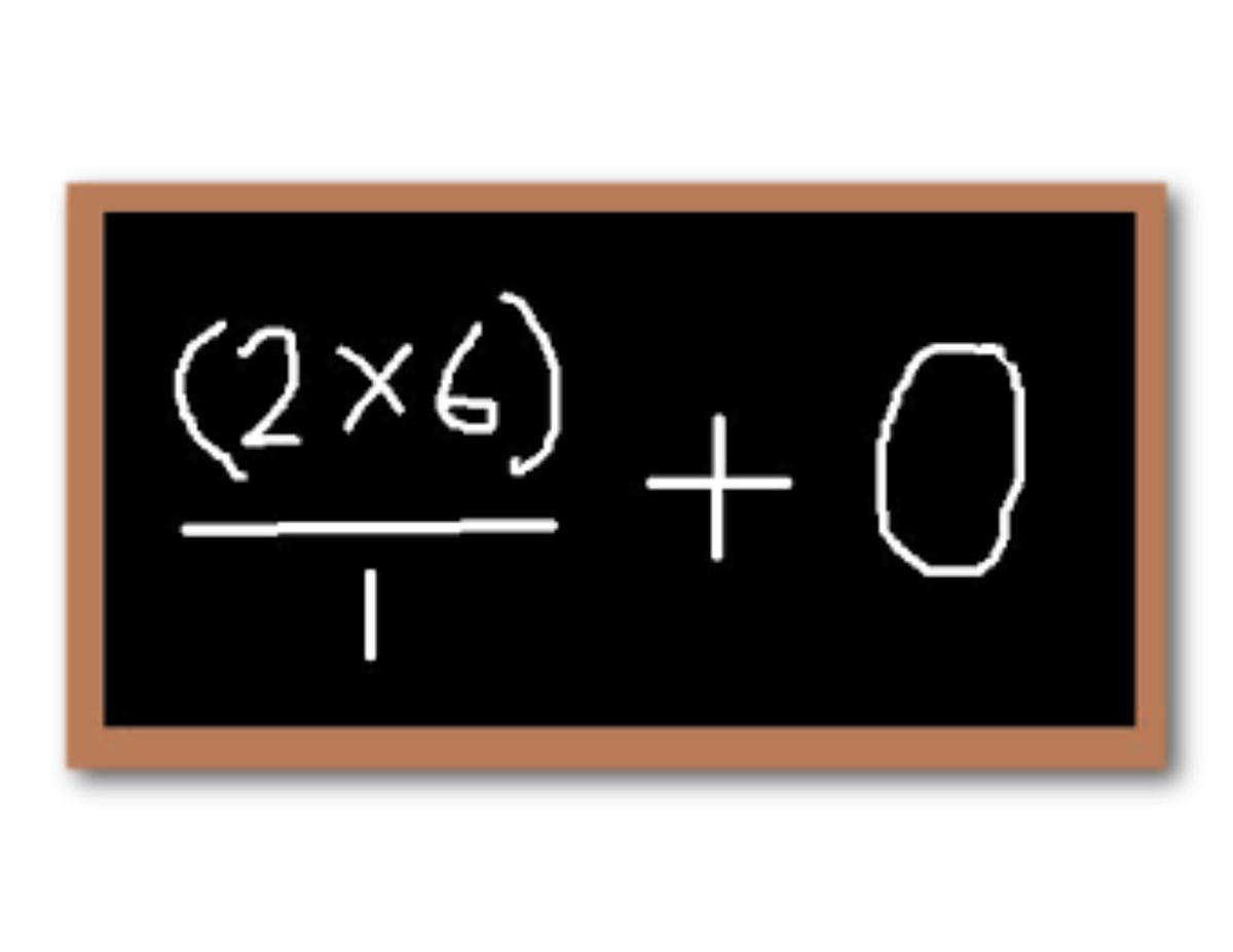 equation on chalk board