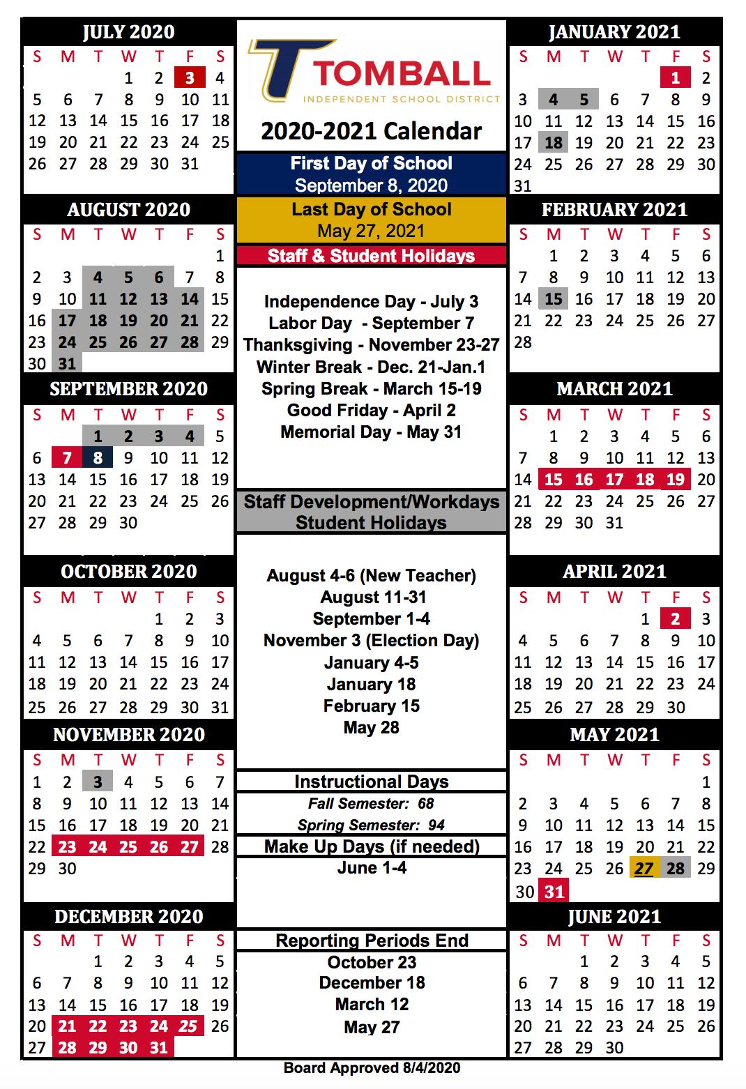 20-21 Calendar