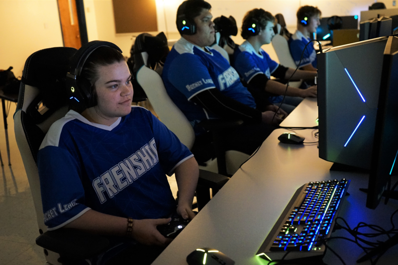 FHS students compete in rocket league game during Esports competition