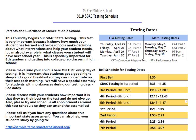 State Testing Begins this week!!!! Thumbnail Image