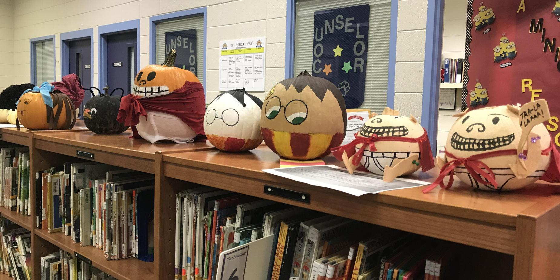 Amazing Book Character Pumpkins from 4th Grade!