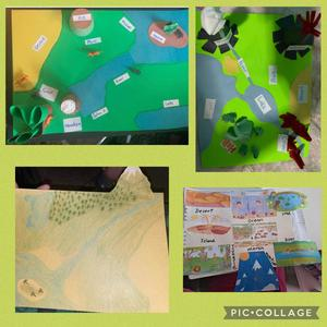 landforms and bodies project collage