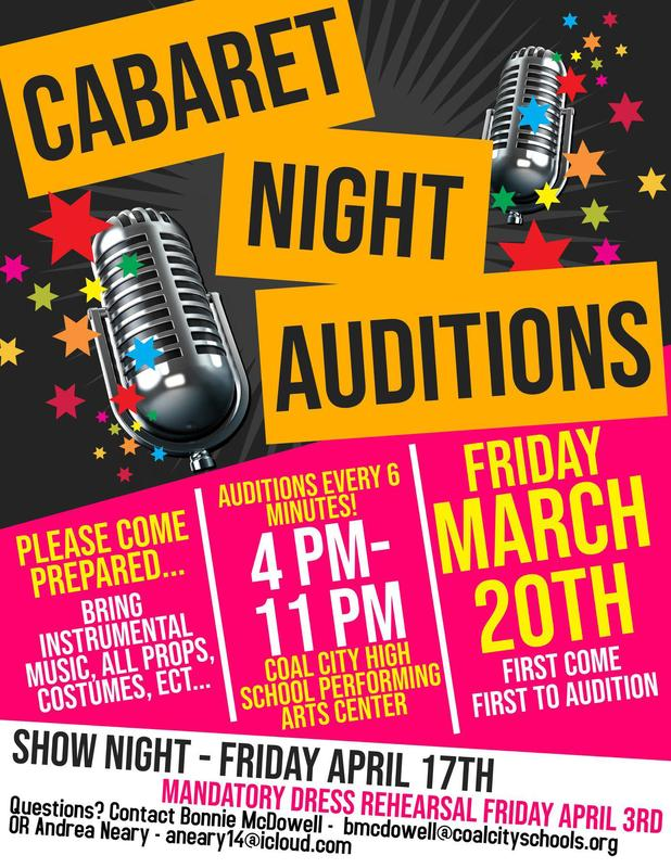 Cabaret Night Auditions - Friday March 20th