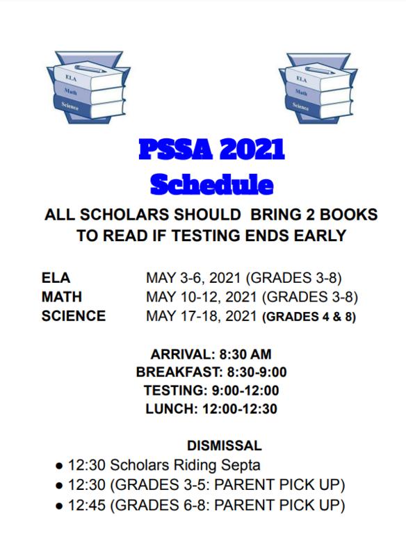 PSSA 2021 Schedule Featured Photo