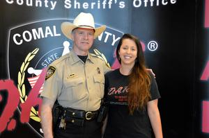 Sheriff Reynolds and Teacher Cullpepper
