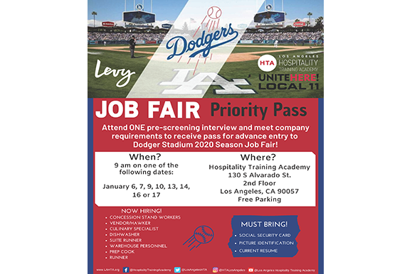 LA Dodgers Job Fair Priority Pass