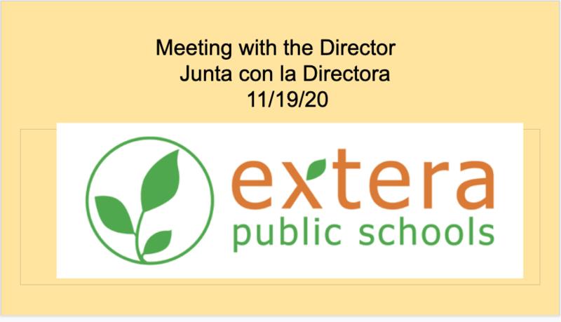 Junta conlaDirectora/Meeting withDirector11/19/20 Featured Photo