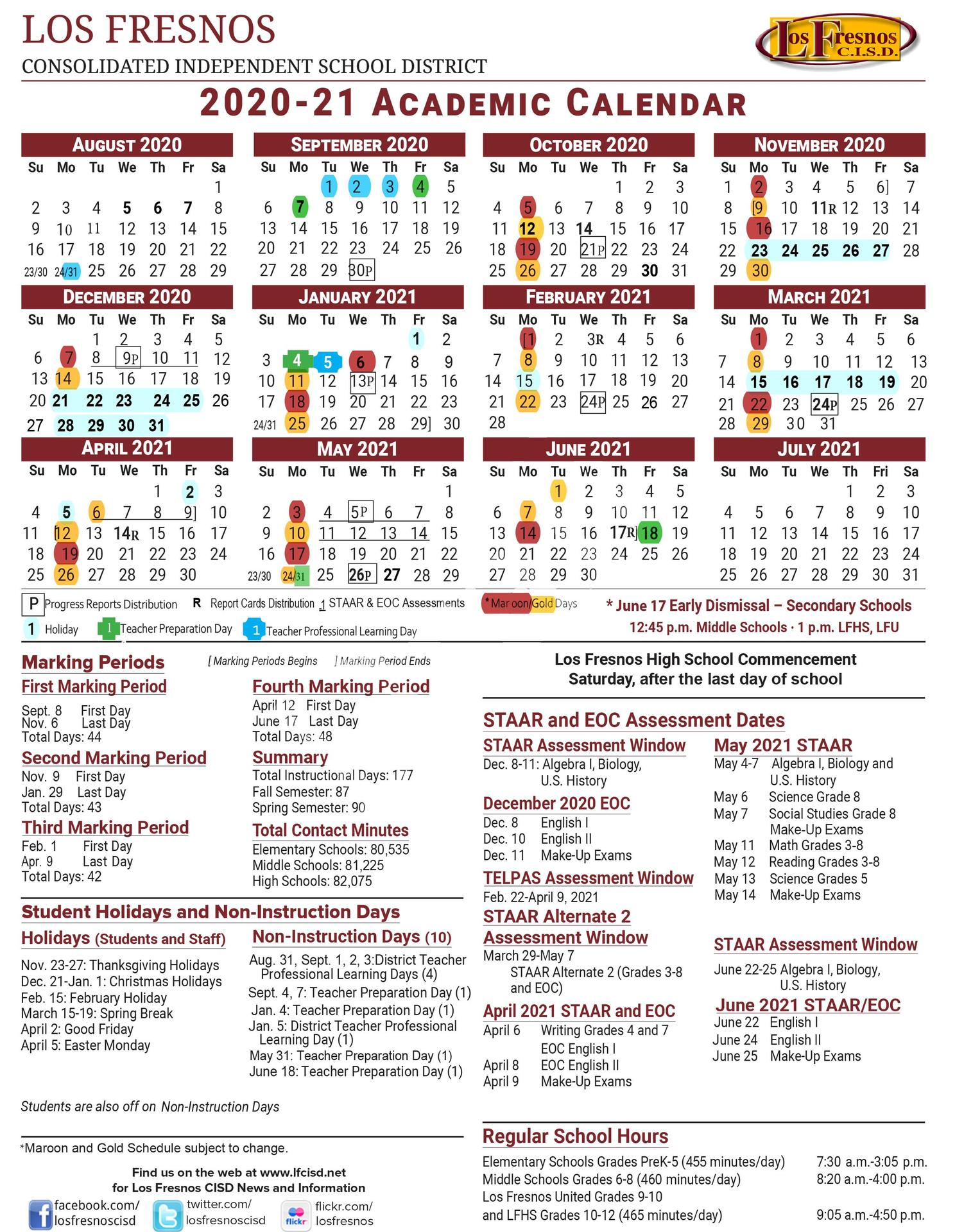 Academic Calendar Hybrid