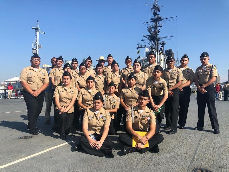 NJROTC Goes to San Diego to Compete on the USS Midway Featured Photo