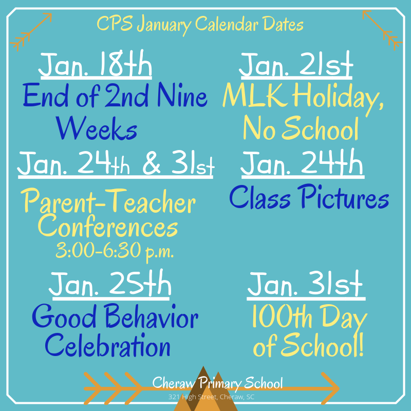 CPS January Calendar Featured Photo