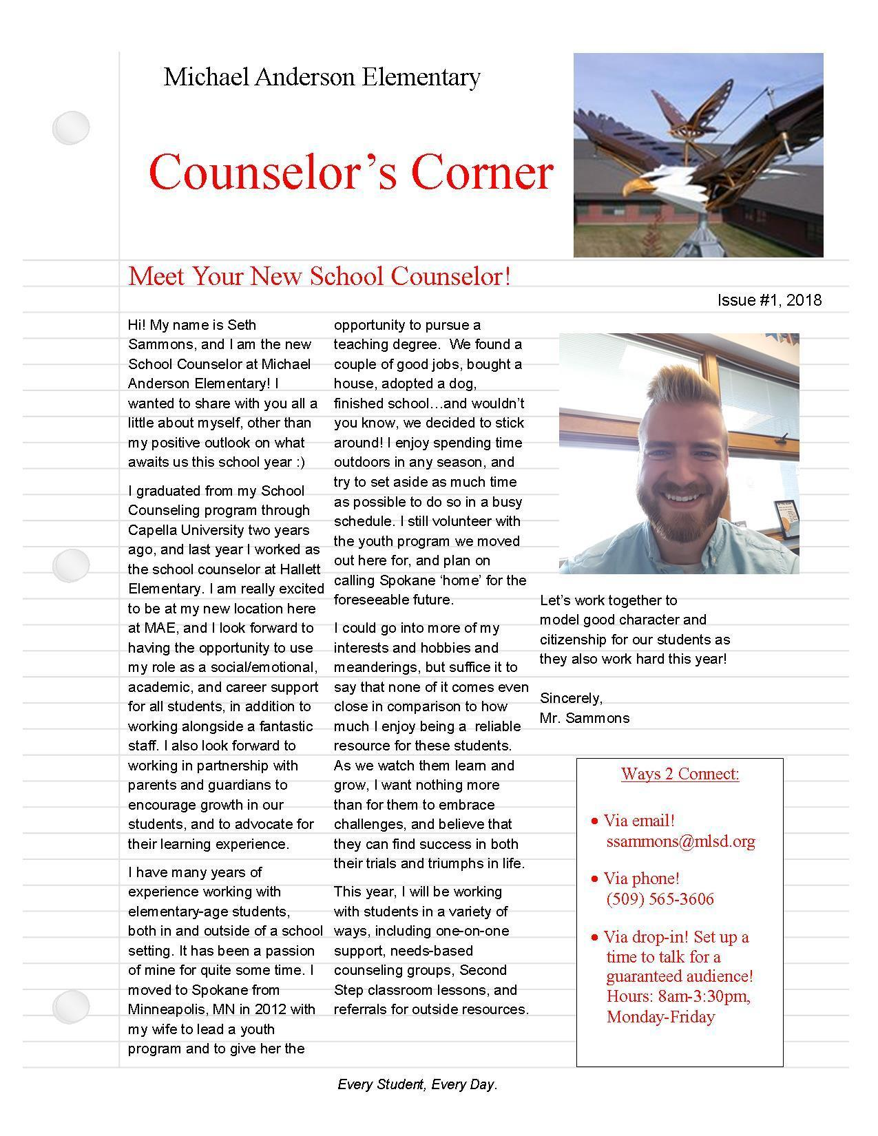 School Counselor Information