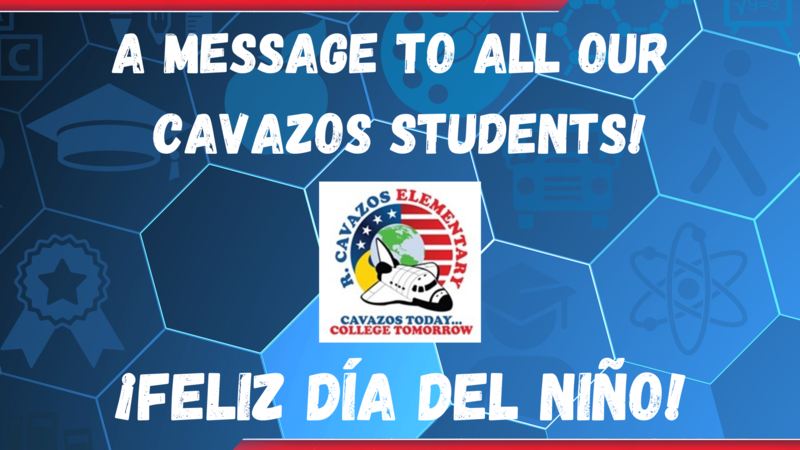 the cover page of our video. A message to all our Cavazos students