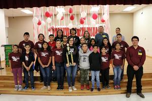 picture of the Waitz Elementary School winning classroom group