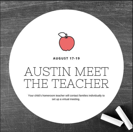 Austin Meet the Teacher chalkboard sign