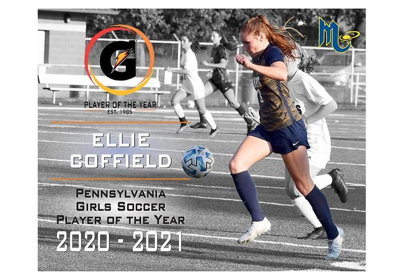 Mars Area High School graduate Ellie Coffield (Class of 2021) was named the 2020-2021 Gatorade Pennsylvania Girls Soccer Player of the Year.