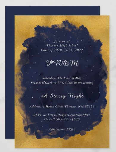 RSVP for Prom on Saturday, May 1st Featured Photo