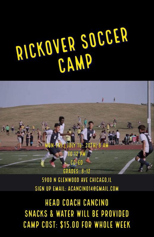Rickover Summer Camp - Boys Soccer