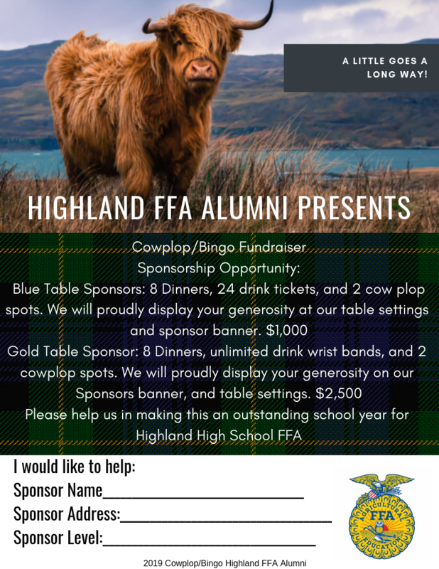 Cow Plop/Bingo Sponsorship Flyer