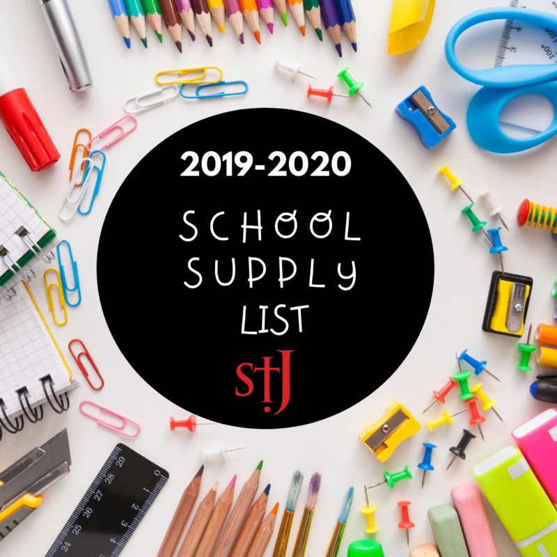 2019 - 2020 School Supply List Featured Photo