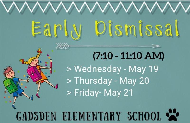 Early Dismissal 5/19/21-5/21/21 Featured Photo