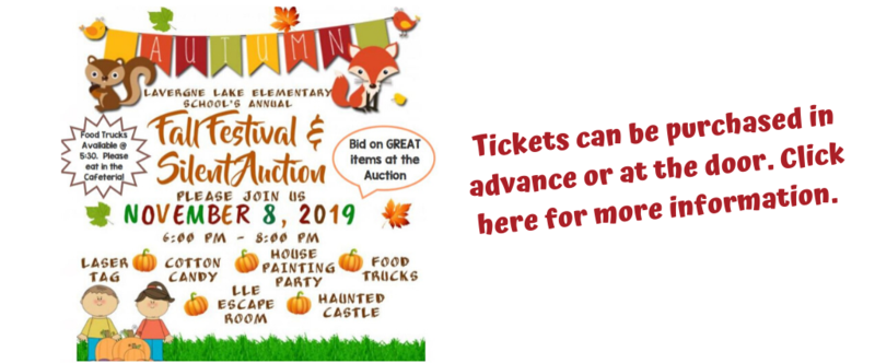 Fall Festival and Silent Auction 11/8/19 6:00-8:00 pm.