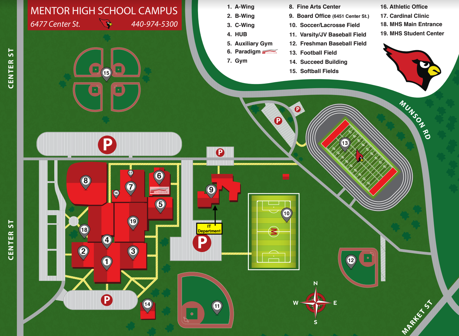 Mentor Campus Map - IT Department