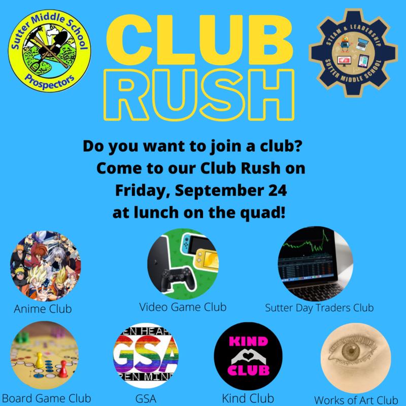 Click here for Club Rush Information /Haga clic aquí para obtener información sobre Club Rush Featured Photo
