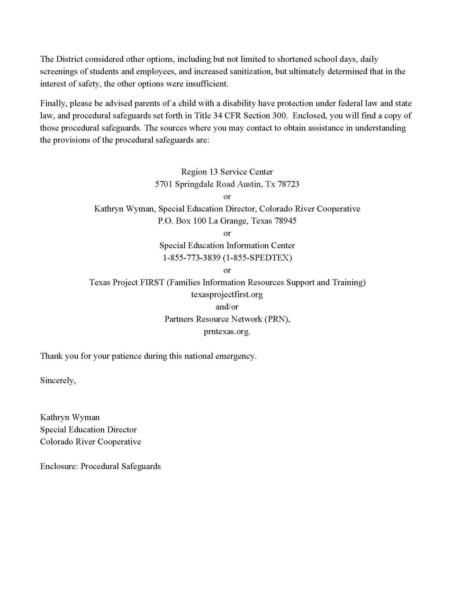 Prior Written Notice page 2