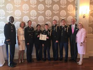 The Batesburg-Leesville High School JROTC Color Guard participated in the Fallen Soldier Ceremony and Luncheon at the Palmetto Club in Columbia on April 22nd.