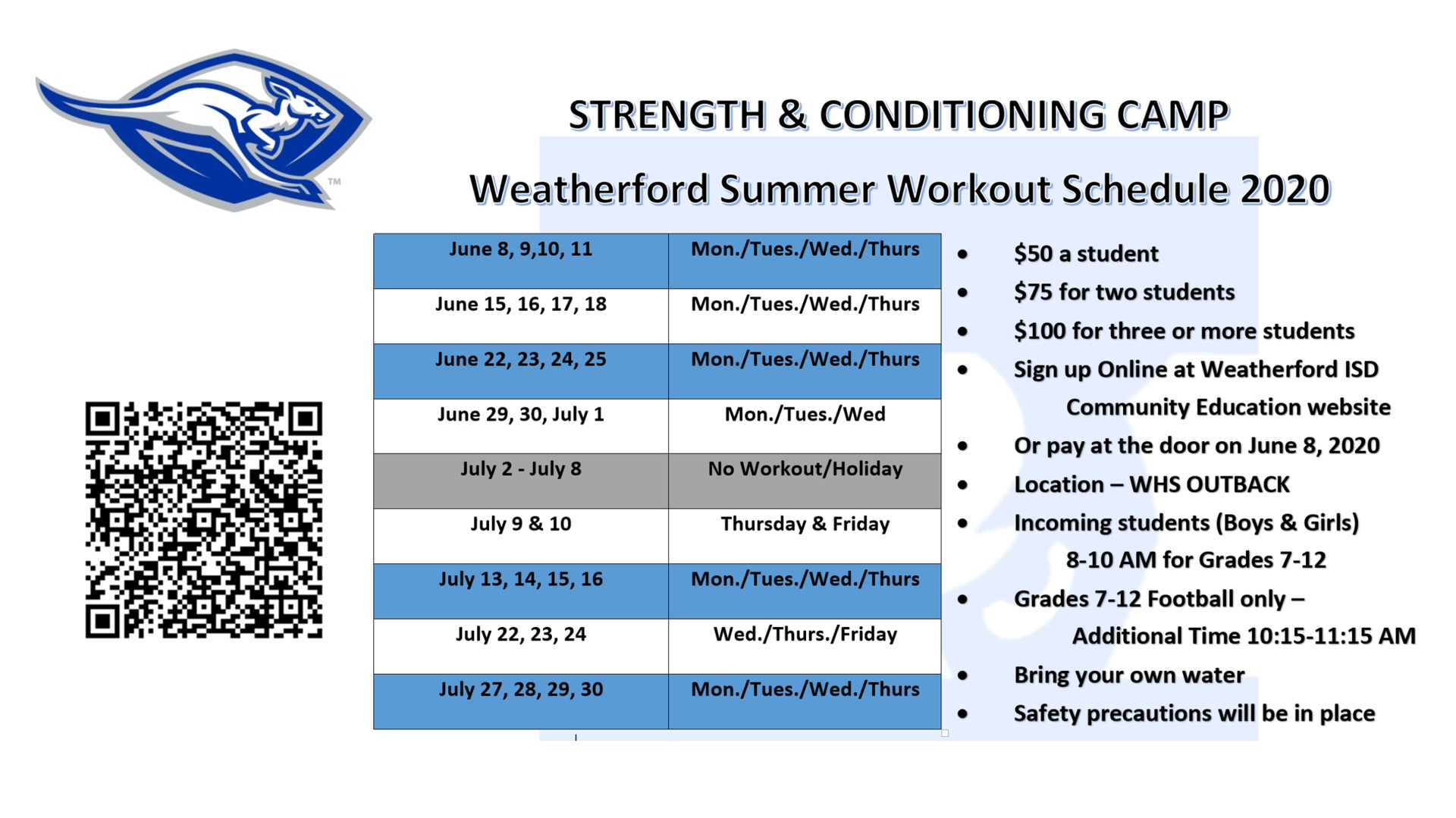 Strength & Conditioning Camp