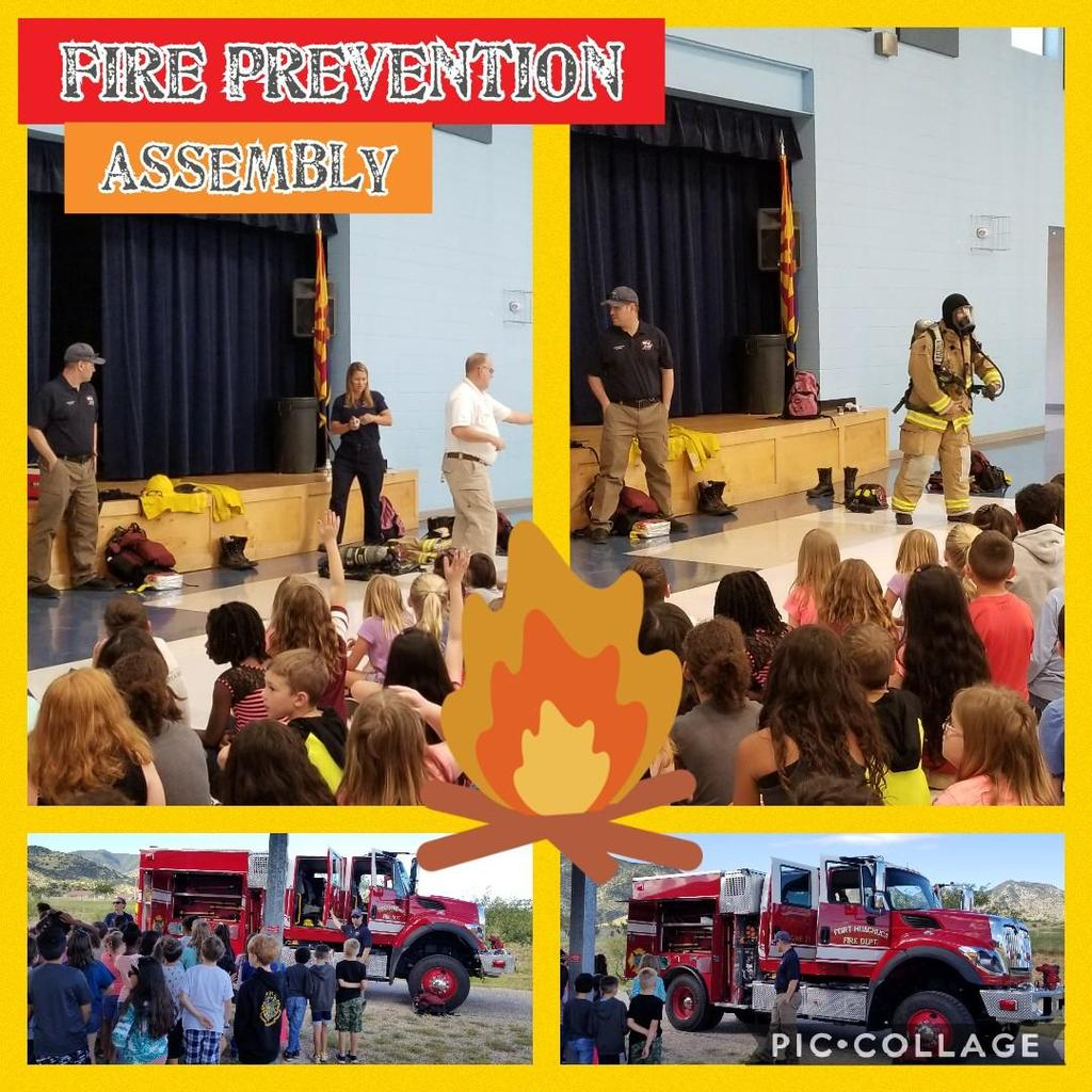 fire fighters teaching students