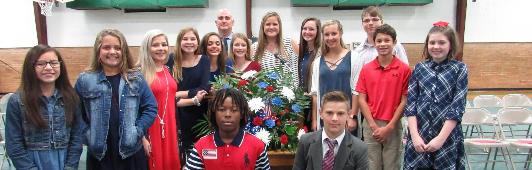students at veteran's day program
