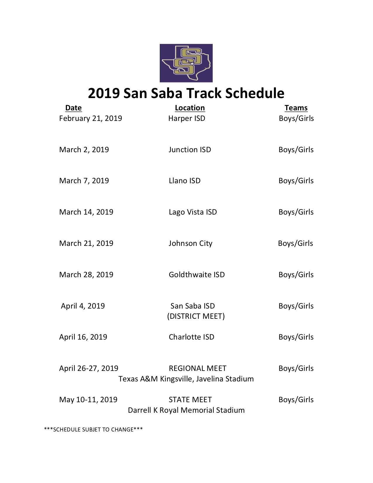 Track - Girls – Athletics – San Saba Independent School District