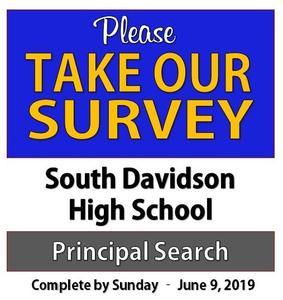 South Davidson High School - Principal Survey