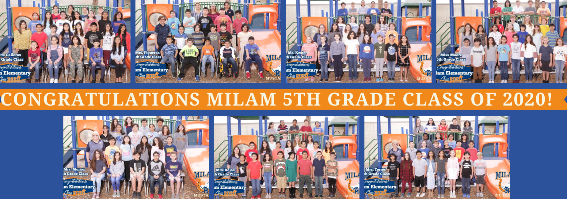 Congrats Milam 5th Grade Class of 2020!