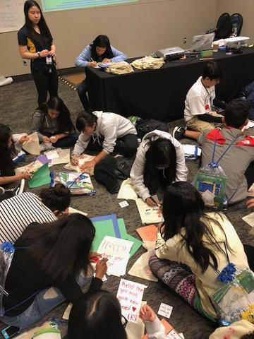 Leadership students working hard at the CASL conference.