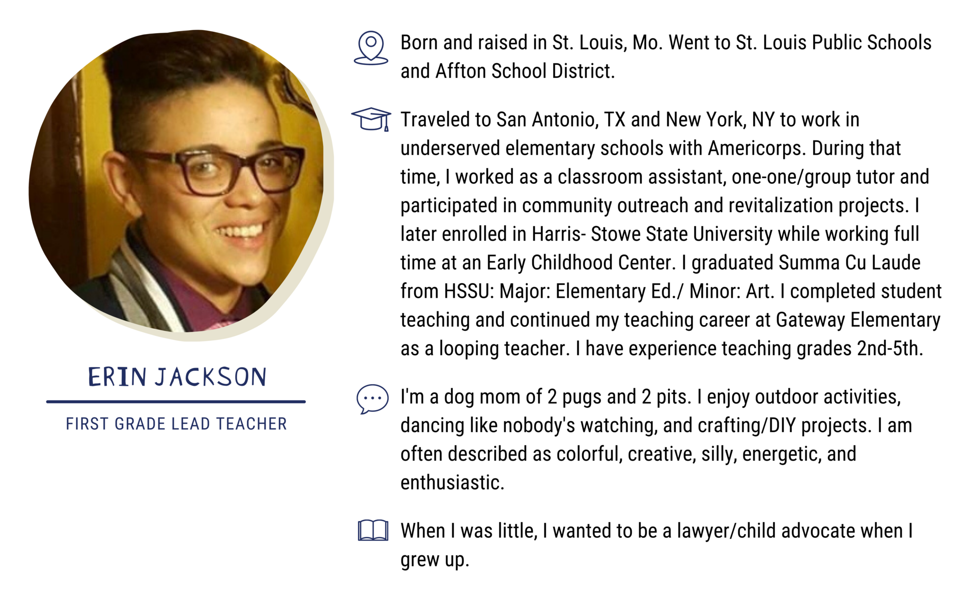 Erin Jackson, First Grade Lead