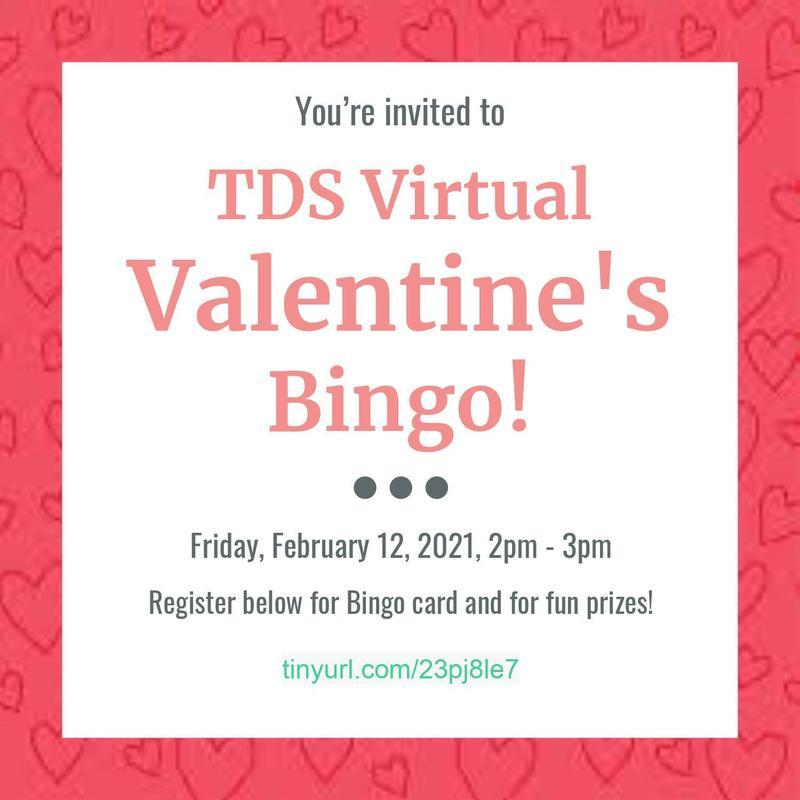 TDS Virtual Valentine's Bingo! Thumbnail Image