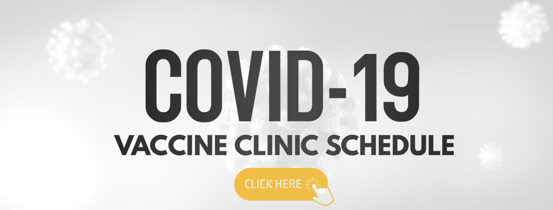 COVID-19 Vaccine Clinic Schedule