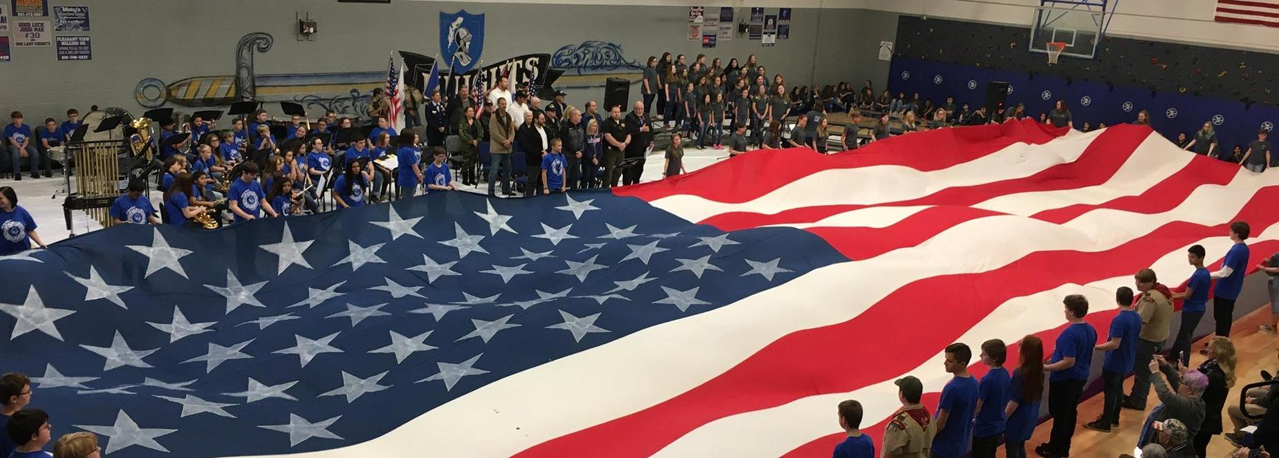 The Sycamore Middle School Veterans Day program.