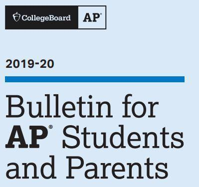AP Bulletin for AP Students and Parents 2019-2020 Thumbnail Image
