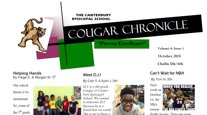 First Edition of the Cougar Chronicle for 2018-2019 Thumbnail Image