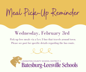 Free Meal Pick-Up Event Scheduled for February 3rd