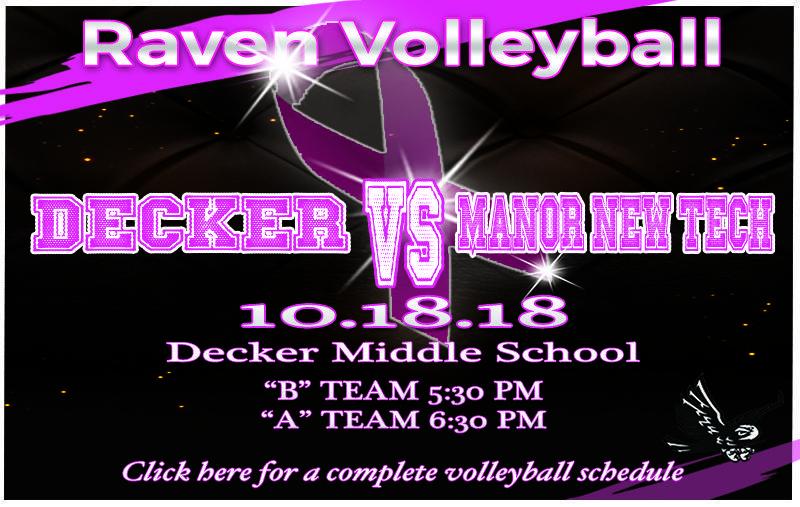 Volleyball:  Decker vs Manor New Tech Thumbnail Image