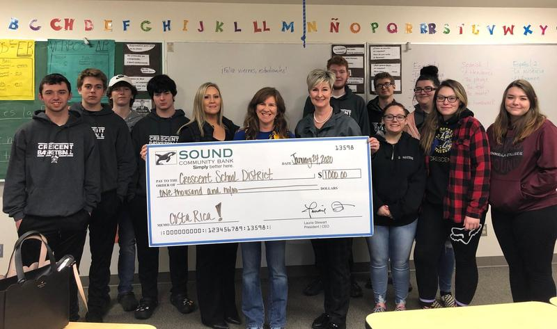 Sound Community Bank Donates