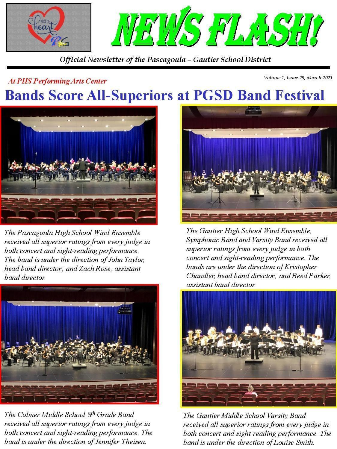 PGSD Bands Score All Superiors