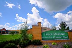 Green Meadows Front of School