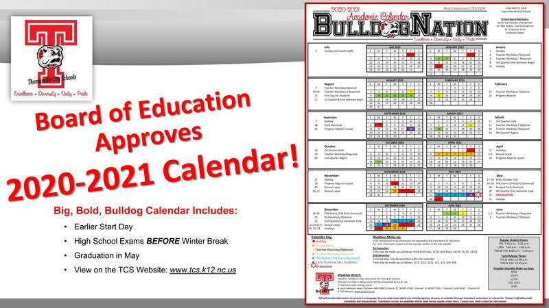 BOE approves calendar image