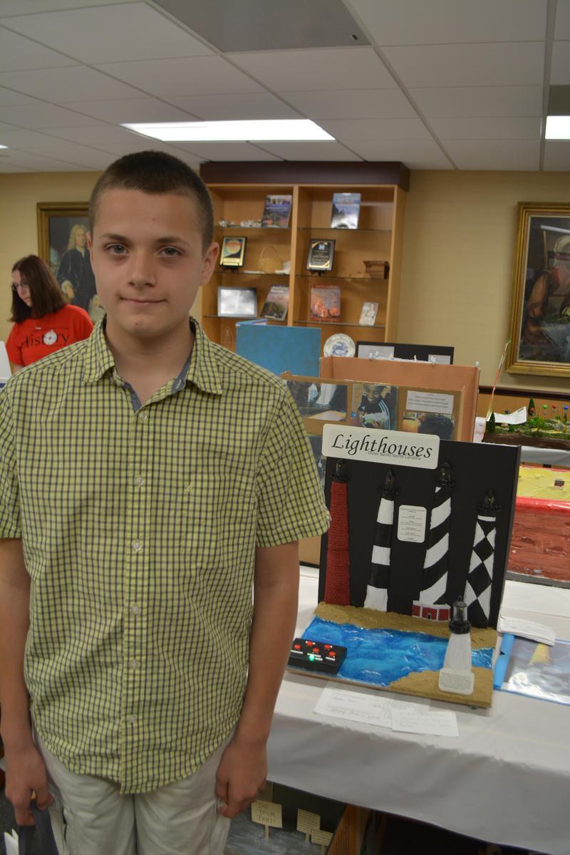 Elijah Denton places first in Tarheel Junior Historian contest Featured Photo